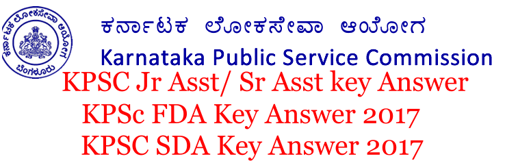kpsc fda key answer