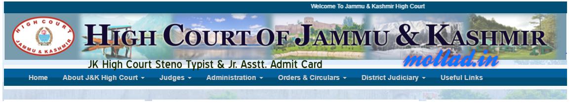 JK High Court admit card download
