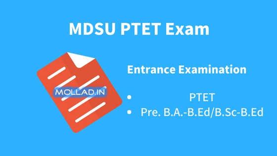 MDSU PTET Exam 2018